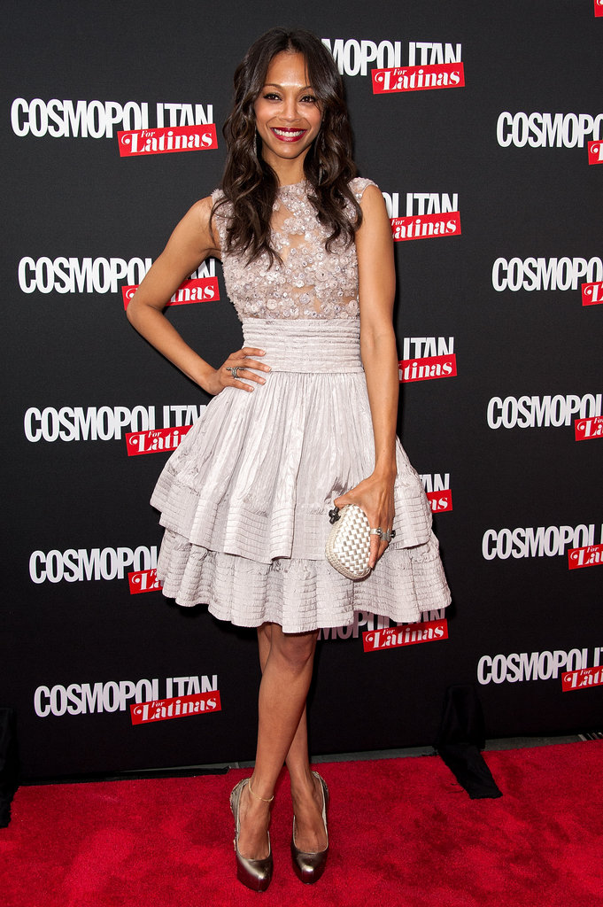 Zoe Saldana celebrated being on the cover of the premiere issue of Cosmopolitan for Latinas in NYC.
