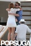 Blake Lively and Leonardo DiCaprio met up on Steven Spielberg's yacht in Monte Carlo in May 2011.