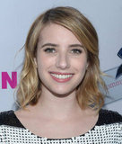 Emma Roberts came out to attend the Nylon party at the Roosevelt Hotel.