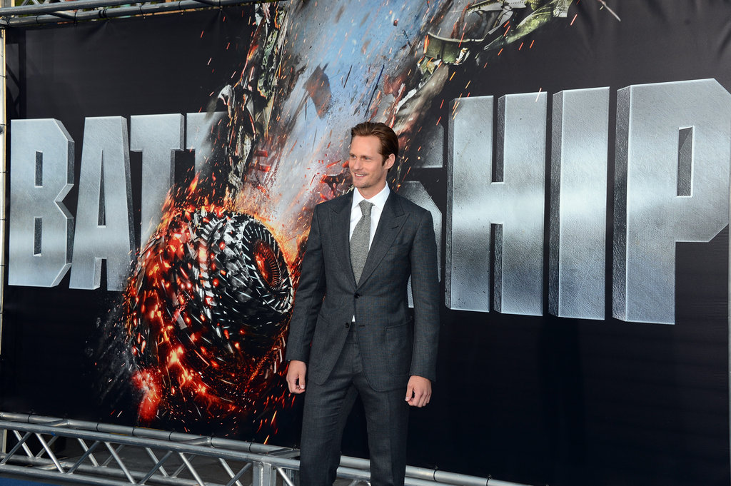 Alexander Skarsgard looked dapper in a suit at the premiere of Battleship in LA.