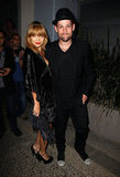 Nicole Richie posed with husband Joel Madden at a party for The Voice Australia in Sydney.