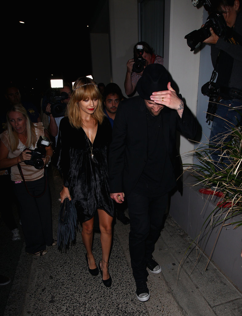 Nicole Richie and Joel Madden were out in Sydney for a party for The Voice Australia in Sydney.