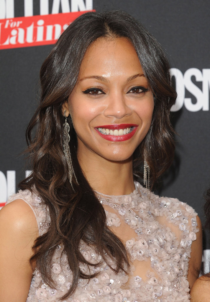 Zoe Saldana looked happy to grace the first cover of Cosmopolitan for Latinas in NYC.