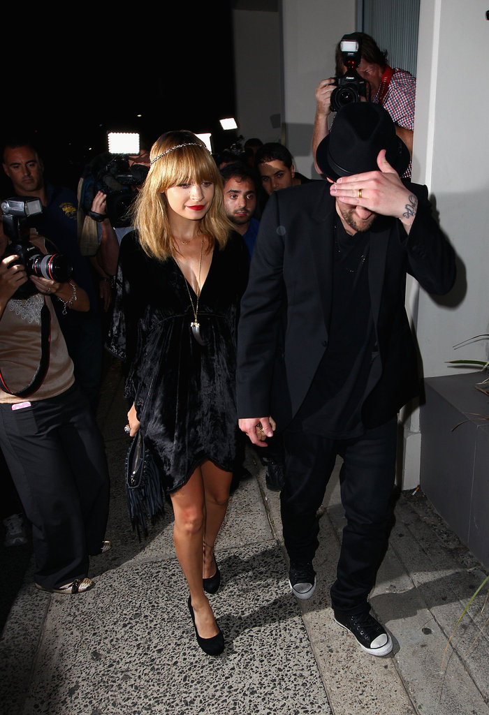 Nicole Richie and Joel Madden attended a party for The Voice Australia in Sydney.