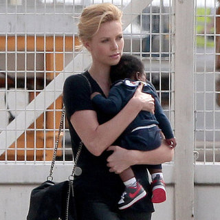 Charlize Theron and Kristen Stewart Leave Paris Pictures