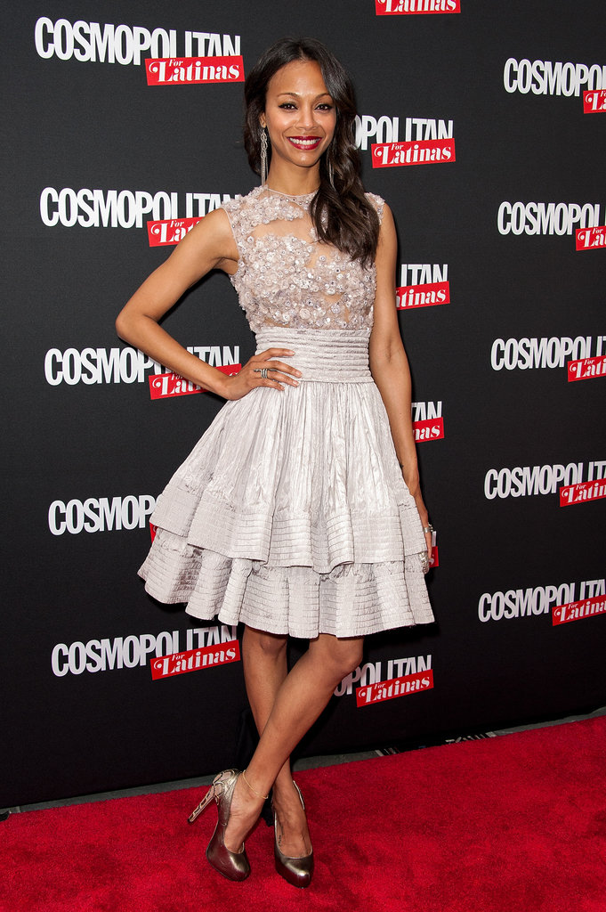 Zoe Saldana struck a pose at the launch party for Cosmopolitan for Latinas in NYC.