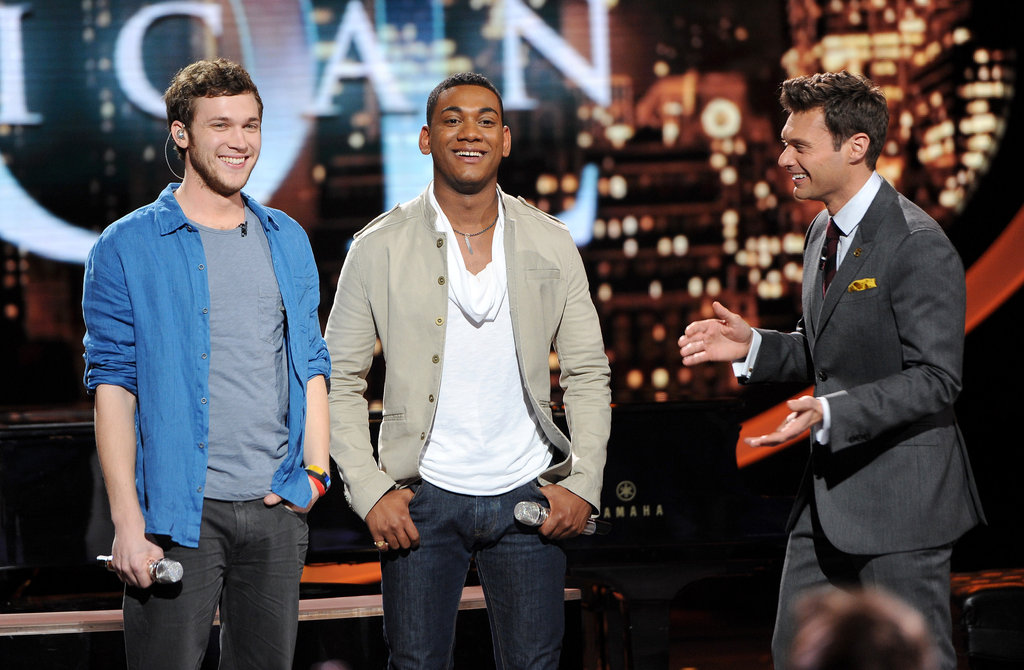 Joshua Ledet and Phillip Phillips performed live on stage.