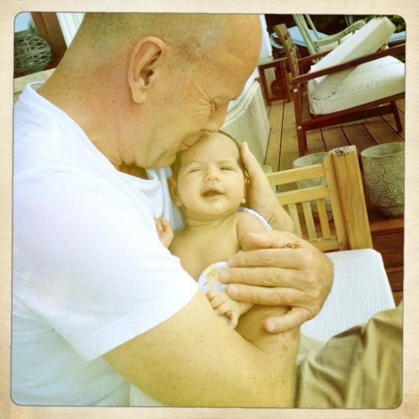 "Bruce Willis and Emma Heming waited until baby Mabel was 6 weeks old before sharing her photo via Emma's Twitter account. The proud mama tweeted, ""A beautiful day in Budapest with the loves of my life. Daddy and Mabel cracking each other up!"""