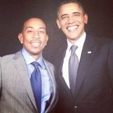 Ludacris shared a photo of himself with President Obama.  Source: Instagram user itsludacris