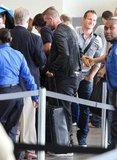 David Beckham arrived at LAX.