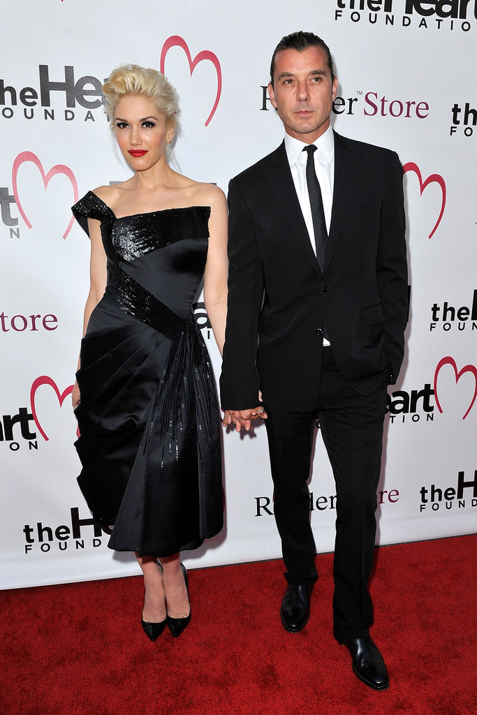 Gwen Stefani held hands with Gavin Rossdale.