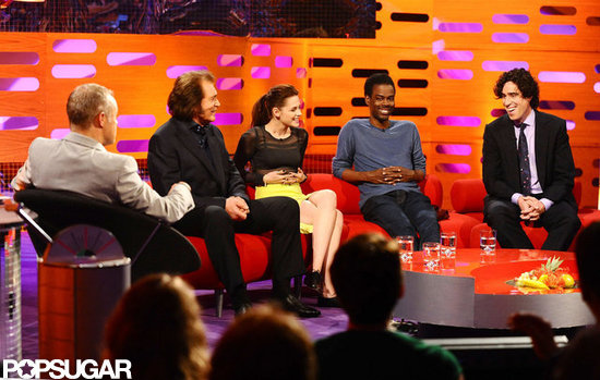 Kristen Stewart was on The Graham Norton Show with Chris Rock, Engelbert Humperdinck, and Stephen Mangan.