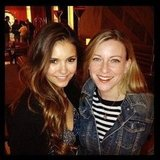 Nina Dobrev went to breakfast with a friend. Source: Instagram user ninadobrev