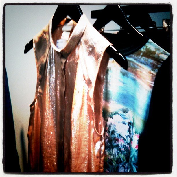 Gorgeous glittery and screen-printed tops at H&M's Fall lineup.