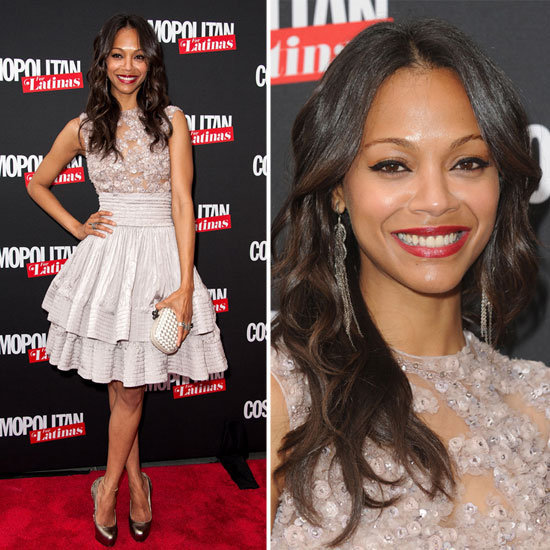 "Zoe Saldana on her style guru, not being a ""pink girl,"" and more at the Cosmopolitan Latinas launch."