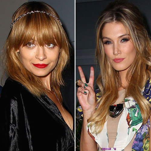 Nicole Richie and Delta Goodrem at The Voice Party
