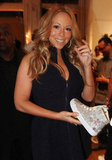 Mariah Carey held a creative sneaker at the Project Canvas Exhibition & Art Gala in NYC.