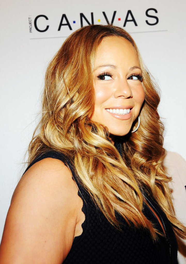 Mariah Carey posed at the Project Canvas Exhibition & Art Gala in NYC.