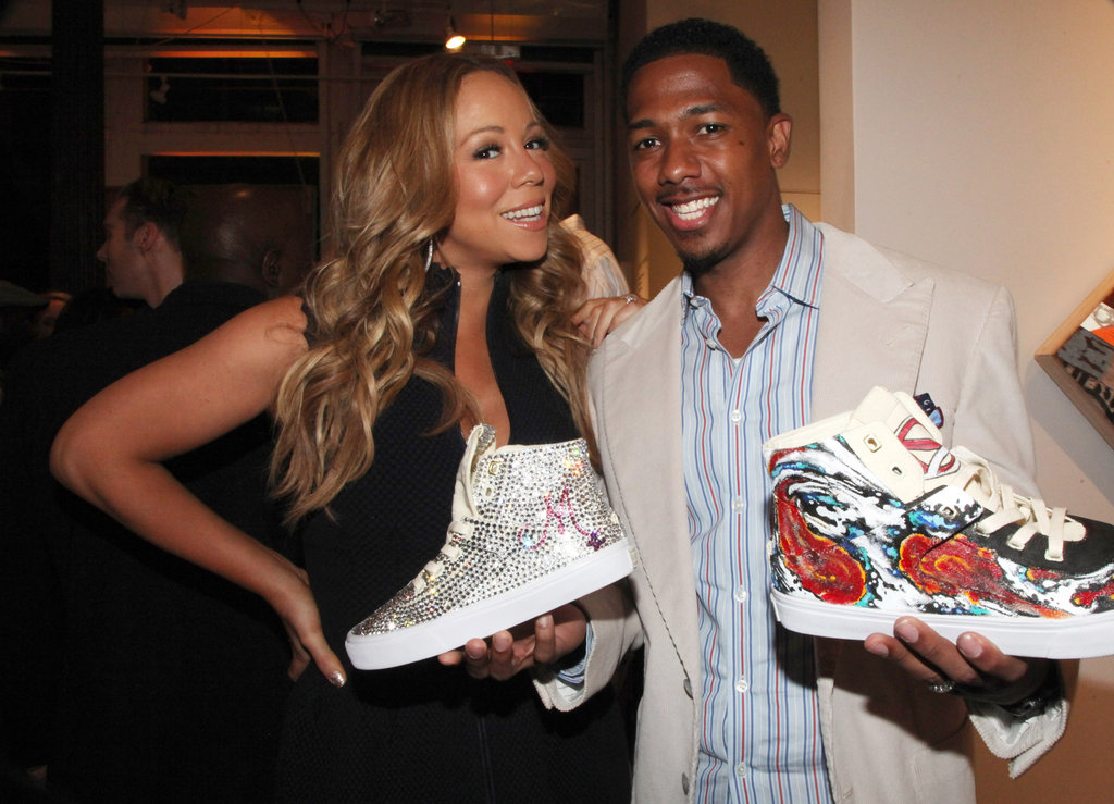 Mariah Carey and Nick Cannon had fun together at the Project Canvas Exhibition & Art Gala in NYC.