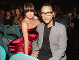 Chrissy Teigen cuddled up to John Legend in May 2012 at the Billboard Music Awards.