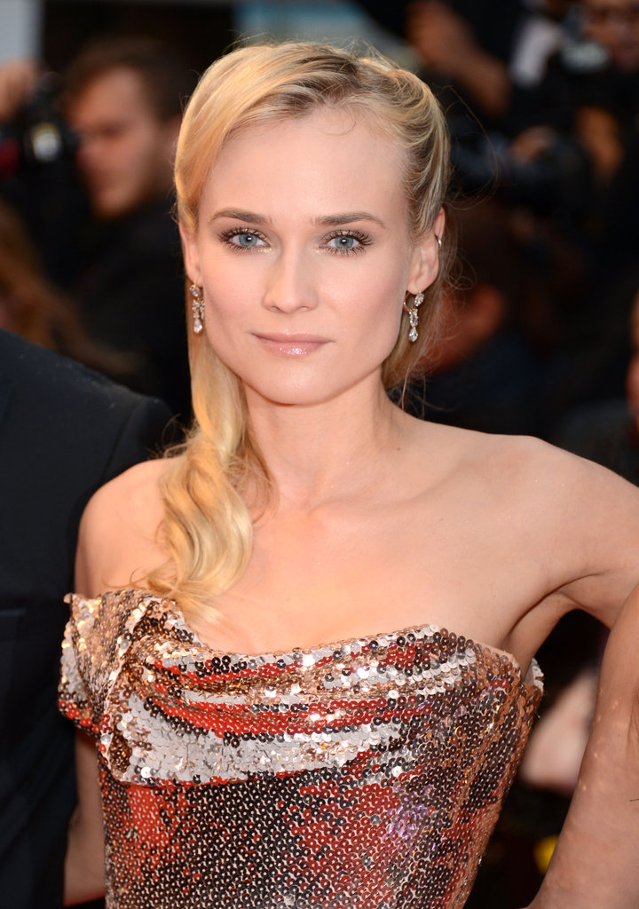 Diane Kruger looked flawless in an ultra-sparkly custom Vivienne Westwood dress at the Amour premiere.