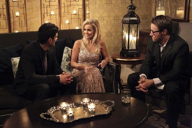 Alejandro, Aaron, and Emily Maynard on The Bachelorette.