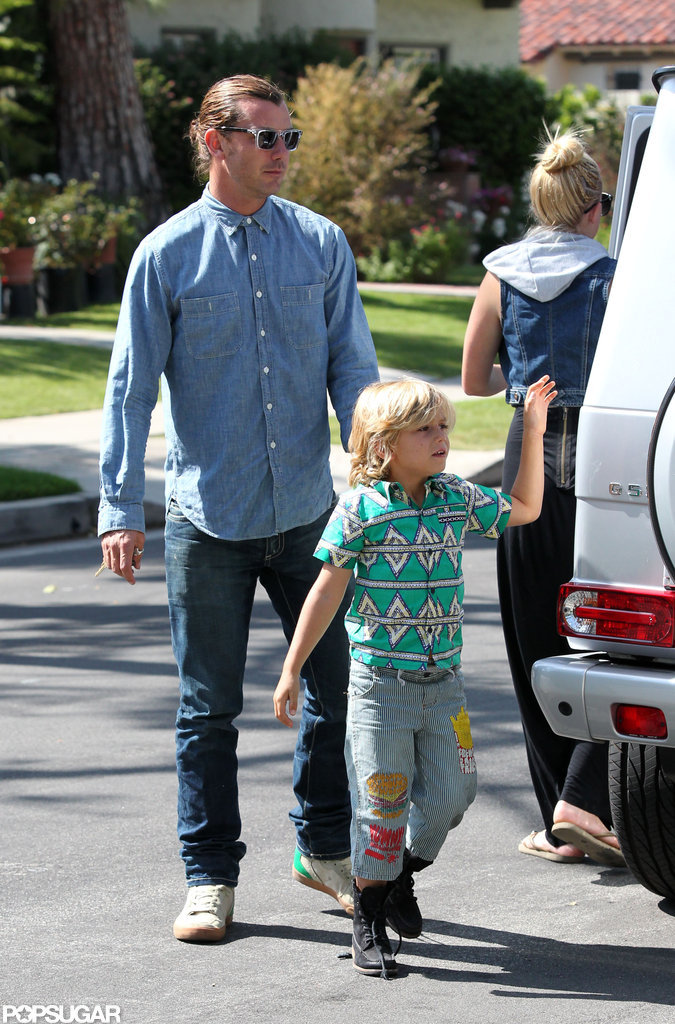 Gavin Rossdale and Kingston wore jeans on Mother's Day.