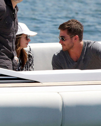 Anne Hathaway and Jake Gyllenhaal spent a day on the Sydney harbor together in 2010.