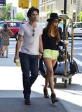 Ian Somerhalder and Nina Dobrev were hand in hand for an NYC stroll.