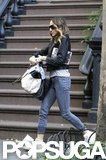 Sarah Jessica Parker left her three kids at home for a solo NYC outing.