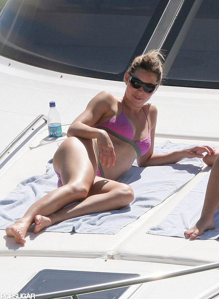 Jessica Biel got some sun while on a yacht in Puerto Rico with Derek Jeter in 2007.