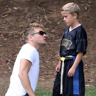 Ryan Phillippe and Girlfriend at Deacon Football Game