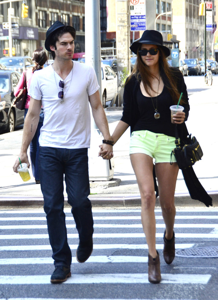 Ian Somerhalder and Nina Dobrev were out and about enjoying the sunshine during a stroll in NYC.