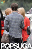 Emma Stone and Andrew Garfield bid farewell to her mom after a visit in NYC.
