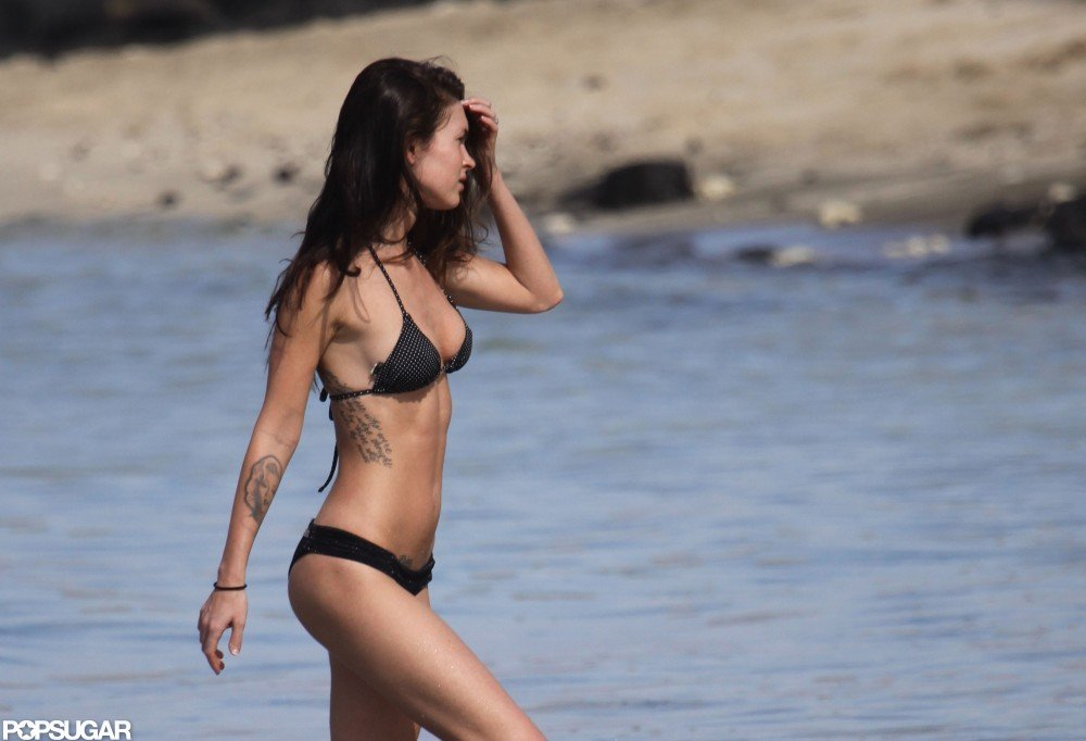 Megan Fox sported a bikini during a December 2010 trip to Hawaii.
