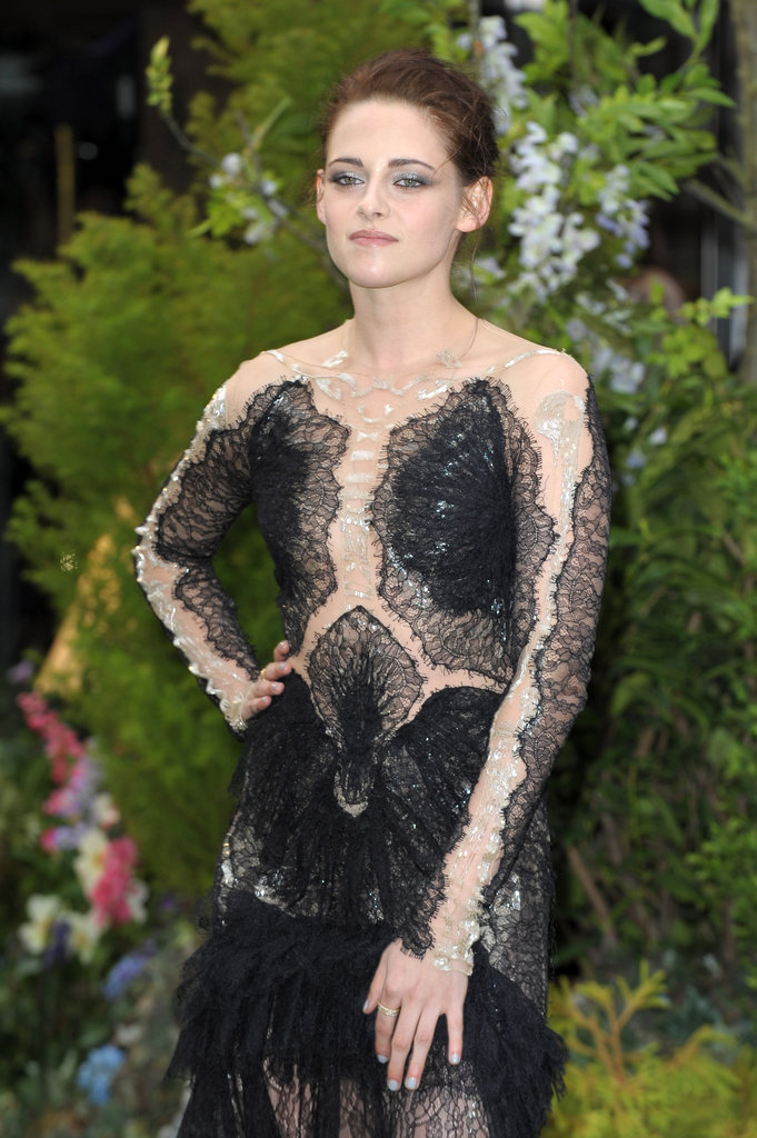 Kristen carried the dress with confidence.