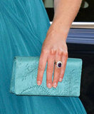 A closer look at Kate's accessories reveals the same lace detailing echoed on her clutch.