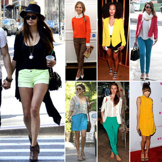 Celebrities Wearing Bright Clothing