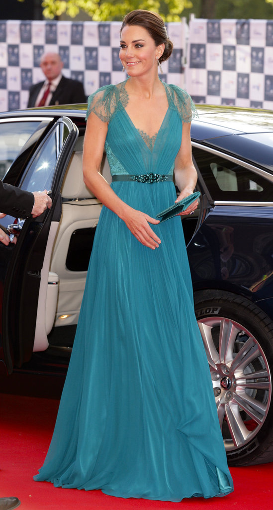 Kate's dress has all the makings of a red-carpet stunner.