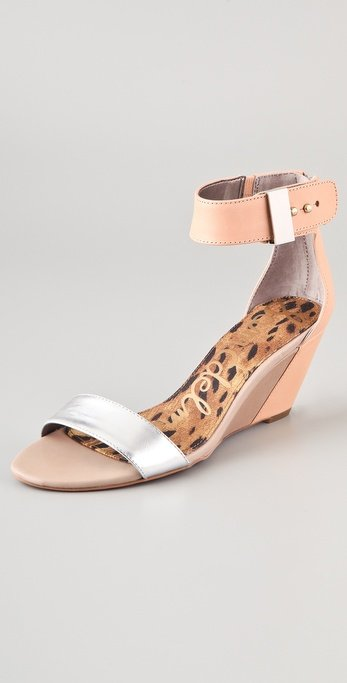 These wedges have a super flattering, leg-lengthening hue with a sleek, modern feel.  Sam Edelman Sophie Low Wedge Sandals ($120)
