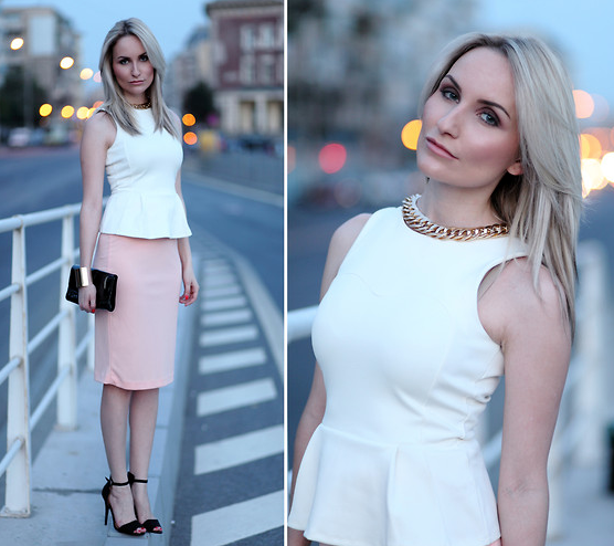 With a fresh Spring palette and a pretty pencil skirt, this peplum look might even work for your more casual weddings. Photo courtesy of Lookbook.nu