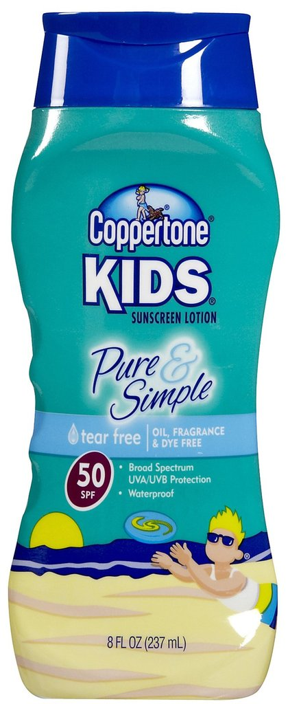 Coppertone Kids Pure & Simple Sunscreen Lotion ($11)