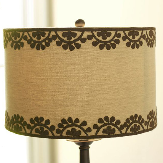 We're digging the Moroccon vibe of this simple Medina Embroidered Drum Lamp Shade ($50) from Pottery Barn.
