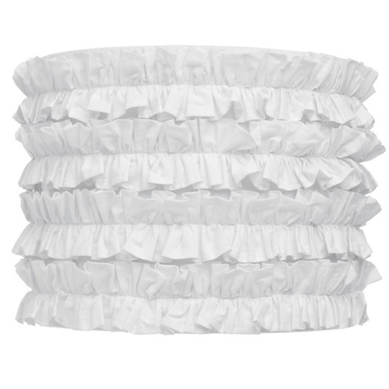 Frilly ruffled rows make this Tuxedo Ruffle Shade ($49) a very feminine pick.