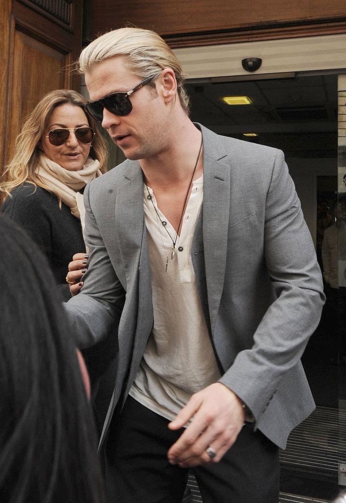 Chris Hemsworth did press at Radio One.