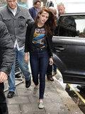 Kristen Stewart arrived at Radio One in London.
