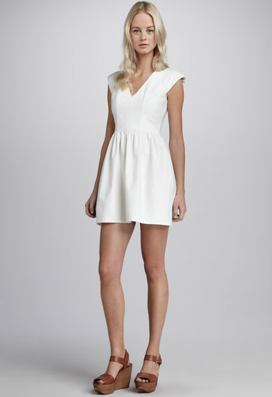 French Connection Cap-Sleeve Dress ($188)
