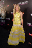 Brooklyn Decker lit up the red carpet in a sunny yellow Giambattista Valli gown with a halter neckline and drop waist.