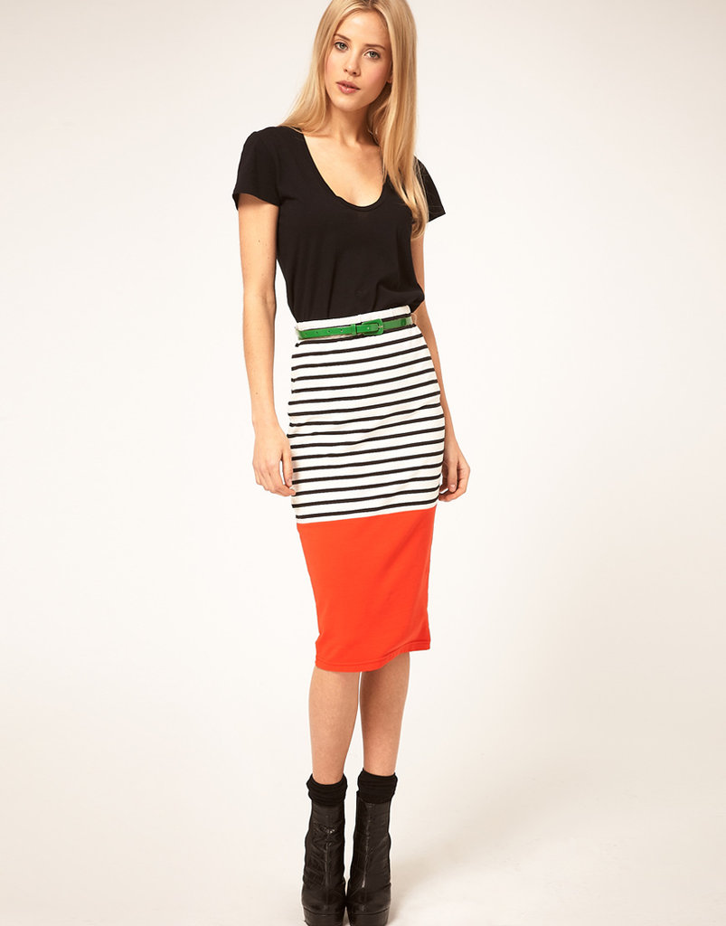 You can't beat a stripe/colorblocking combo. ASOS Colorblock Stripe Pencil Skirt ($35)