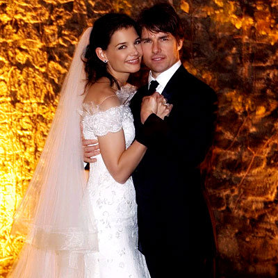 Tom Cruise and Katie Holmes's Tight Squeeze